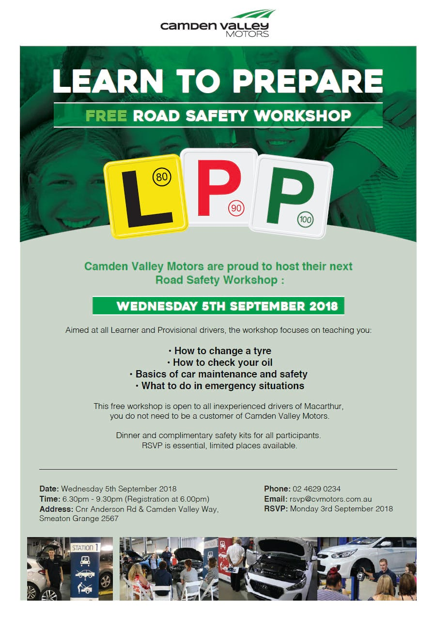 Road Safety Workshop - Wednesday 9th May 2018